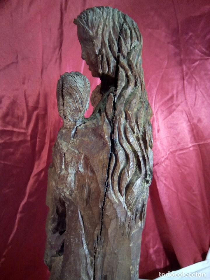 Arte: Escultura, virgen con niño , talla de madera - Foto 5 - 81580772