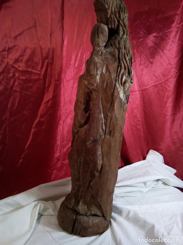 Arte: Escultura, virgen con niño , talla de madera - Foto 6 - 81580772