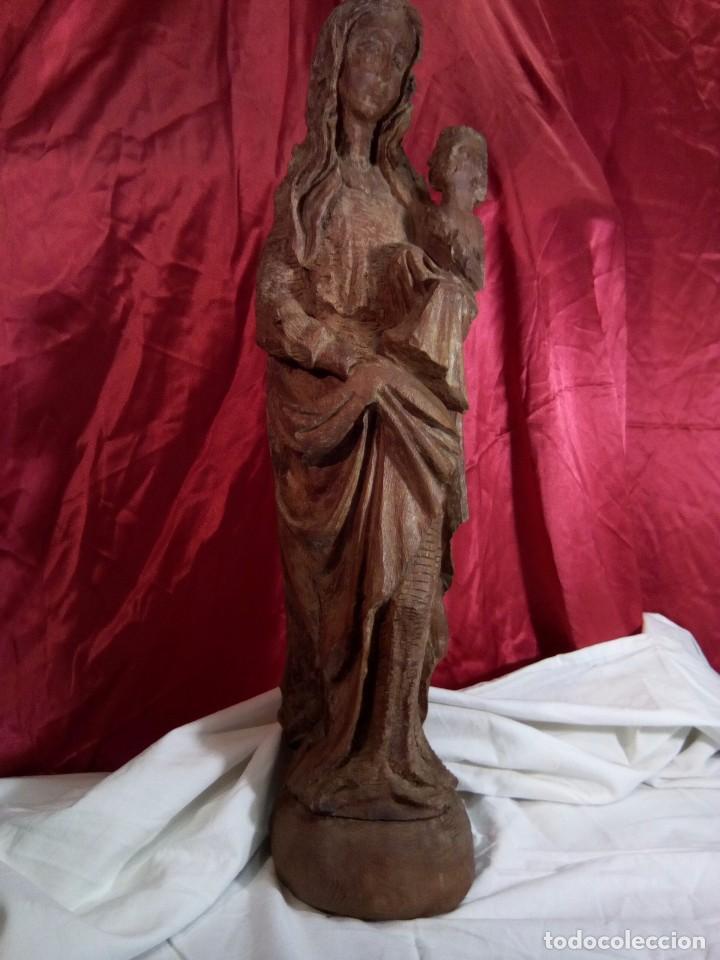 Arte: Escultura, virgen con niño , talla de madera - Foto 9 - 81580772