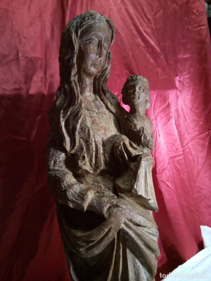 Arte: Escultura, virgen con niño , talla de madera - Foto 10 - 81580772