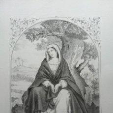 Arte: CARLOS SANTIGOSA. 4 LITOGRAFÍAS ORIGINALES DE SU ÁLBUM COLECCIONES RELIGIOSAS DE 1853. Lote 81644492