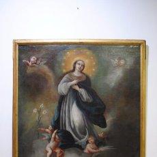 Arte: ANTIGUO ÓLEO INMACULADA CONCEPCIÓN S.XVIII. Lote 81677528
