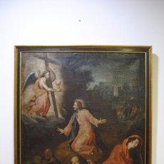 Art: ÓLEO ANTIGUO LA ORACIÓN DE JESÚS EN EL HUERTO. Lote 81677832