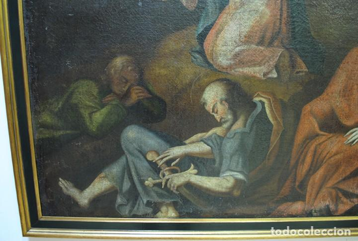 Arte: ÓLEO ANTIGUO LA ORACIÓN DE JESÚS EN EL HUERTO - Foto 2 - 81677832