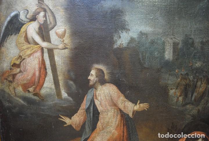 Arte: ÓLEO ANTIGUO LA ORACIÓN DE JESÚS EN EL HUERTO - Foto 3 - 81677832