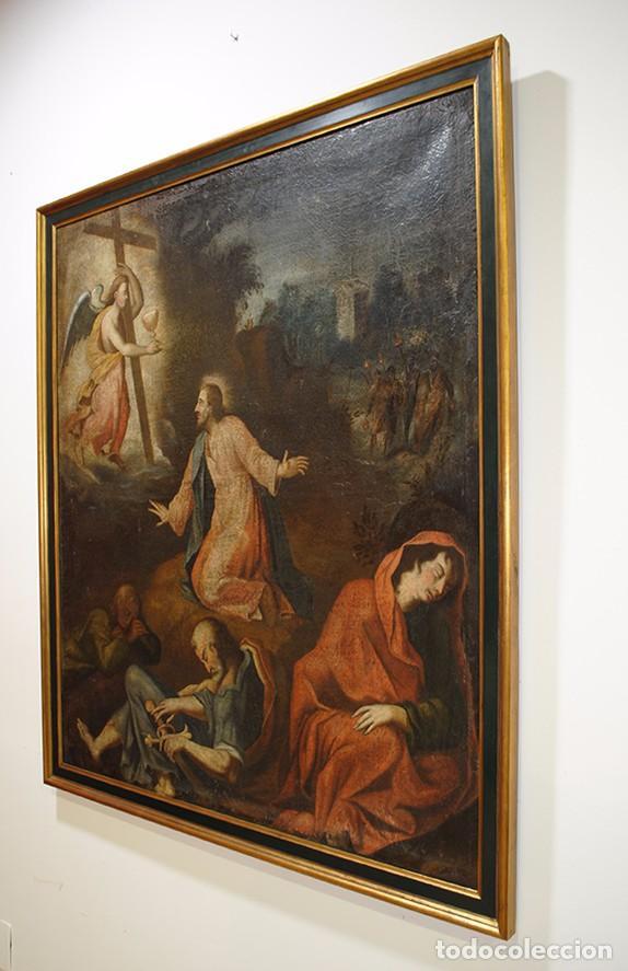 Arte: ÓLEO ANTIGUO LA ORACIÓN DE JESÚS EN EL HUERTO - Foto 4 - 81677832