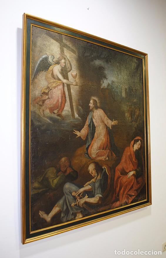 Arte: ÓLEO ANTIGUO LA ORACIÓN DE JESÚS EN EL HUERTO - Foto 5 - 81677832