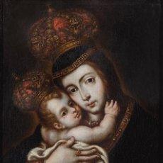 Arte: ESCUELA MADRILEÑA S. XVII . NUESTRA SEÑORA DE BELÉN . ÓLEO SOBRE LIENZO CON IMPORTANTE MARCO. Lote 81722636