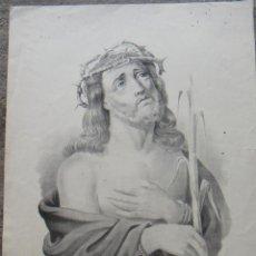 Arte: ECCE- HOMO. GRABADO DEL SIGLO XIX, Fª Aº DE LAS DOBLAS, MÁLAGA. Lote 81177356