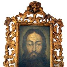 Arte: ÓLEO SOBRE COBRE - ¿ RETRATO ? - ¿ IMAGEN DE CRISTO ? - S. XVIII - CON ENMARCACIÓN DEL S. XIX. Lote 81912184