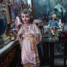 Arte: NIÑO JESÚS DEL SAGRADO CORAZÓN ESTUCO DE OLOT. Lote 168467934