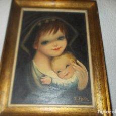 Arte: BONITA VIRGEN CON EL NIÑO, PINTADO EN OLEO . Lote 82615640