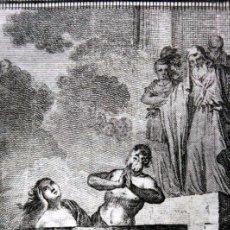 Arte: SAN CIPRIANO Y SANTA JUSTINA MARTIRES - GRABADO DEL S.XIX - 17,5X12CM - . Lote 82705556