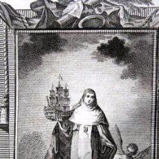 Arte: SANTA MARIA DE SOCORS - GRABADO DEL S.XIX - 18X12CM. Lote 82707240