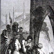 Arte: SAN JUANARIO - OBISPO Y MARTIR - GRABADO DEL S.XIX - 18,5X12CM. Lote 82723008