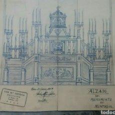 Arte: PLANO ALTAR RELIGIOSO MONTROIG TARRAGONA 1959. Lote 82745083