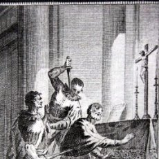 Arte: SAN PEDRO ARBUES - MARTIR - GRABADO DEL S.XIX - 18,5X11,5CM. Lote 82748484