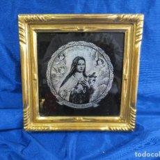 Arte: ANTIGUO CUADRO EN CRISTAL DE STA TERESITA DEL NIÑO JESUS. Lote 82845864