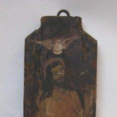 Arte: BONITA PINTURA TABLETA OLEO ANTIGUA EN MADERA RETABLO IMAGEN CRISTO XVIII XIX. Lote 82926724