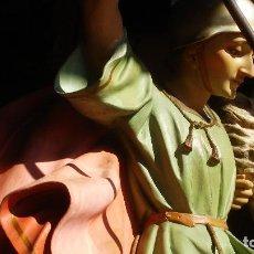 Arte: SAN JORGE EXTRAORDINARIO GRUPO ESCULTÓRICO DE MEDIDAS LITÚRGICAS. Lote 83006860