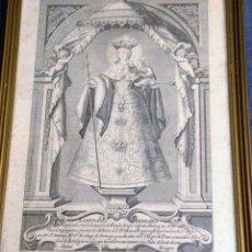 Arte: GRABADO DE LA DIVINA PEREGRINA DE PONTEVEDRA(1779) POR JUAN MINGUET (1737-1804?). Lote 83169232