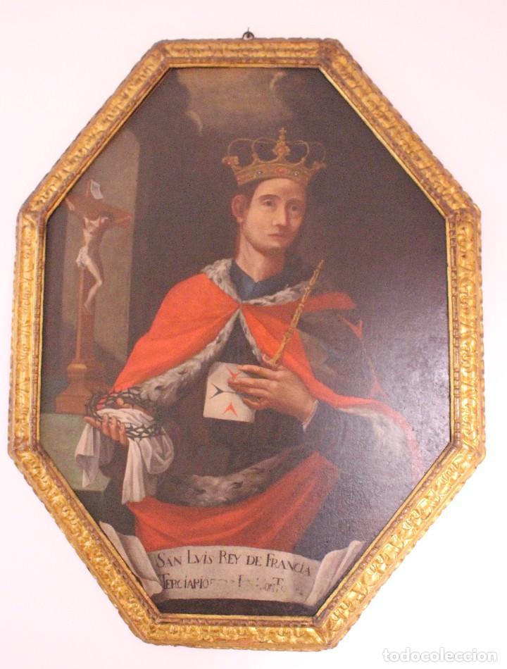 Arte: PRECIOSO CUADRO RELIGIOSO DEL SIGLO XVIII MALLORQUÍN - Foto 2 - 83283192