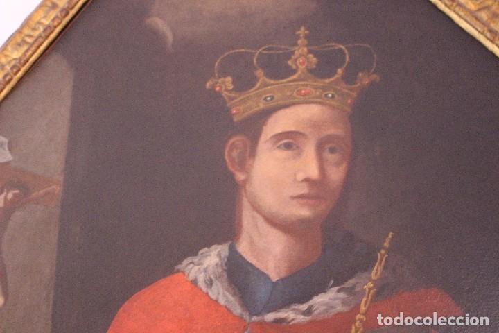 Arte: PRECIOSO CUADRO RELIGIOSO DEL SIGLO XVIII MALLORQUÍN - Foto 7 - 83283192
