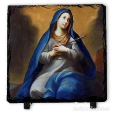Arte: PIZARRA 10X10 CON VIRGEN DOLOROSA. Lote 83286356