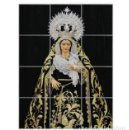 Arte: RETABLO DE 12 AZULEJOS 15X15 CTM DE LA VIRGEN DE LAS TRISTEZAS DE SEVILLA. Lote 83338672