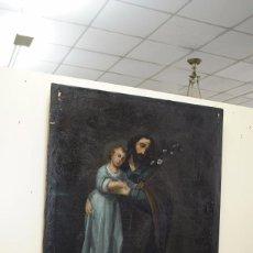 Arte: ÓLEO S. XIX ANTIGUO DE SAN JOSÉ CON EL NIÑO. Lote 83397168