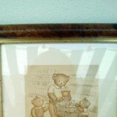 Arte: LITOGRAFIA CUADRO PINTADO OSITOS SERIE LIMITADA COLECCION. Lote 83463624