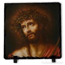 Arte: PIZARRA 10X10 DE JESUS ECCE HOMO . Lote 83519972