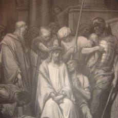 Arte: GRABADO RELIGIOSO, JESÚS CORONADO DE ESPINAS, DORÉ-PANNEMAKER, ORIGINAL, BARCELONA,1884,GRAN TAMAÑO. Lote 83549276
