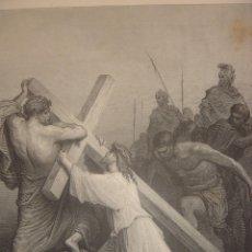 Arte: GRABADO RELIGIOSO, CAIDA DE JESÚS, DORÉ-PANNEMAKER-DOMS, ORIGINAL, BARCELONA,1884,GRAN TAMAÑO. Lote 83549284
