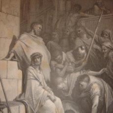 Arte: GRABADO RELIGIOSO, JESÚS INSULTADO, DORÉ-PANNEMAKER-DOMS, ORIGINAL, BARCELONA,1884,GRAN TAMAÑO. Lote 83549292