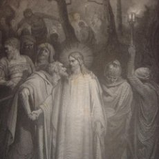Arte: GRABADO RELIGIOSO, BESO DE JUDAS, DORÉ-PANNEMAKER-DOMS,ORIGINAL, BARCELONA,1884,GRAN TAMAÑO. Lote 83549304