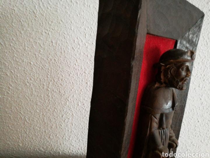 Arte: Retablo de peregrino Santiago. Del artesano murciano Ortigas mide 32 cm - Foto 2 - 83570584
