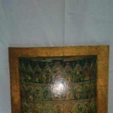 Arte: PRECIOSO GRABADO RELIGIOSO VINTAGE ECHO EN PAN DE ORO. Lote 83597655
