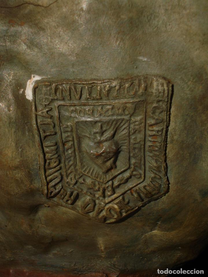 Arte: VIRGEN INMACULADA CENTENARIA PURÍSIMA CON ANGELES SXIX PASTA DE MADERA - Foto 14 - 83700188