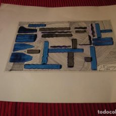Arte: ORIGINAL OBRA REALIZADA POR J.F.COSTOYA .1986,. Lote 83722436