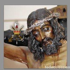 Arte: AZULEJO 20X20 DEL CRISTO DE LA BUENA MUERTE DE MALAGA CON EMBLEMA DE LA LEGIÓN.. Lote 83832760