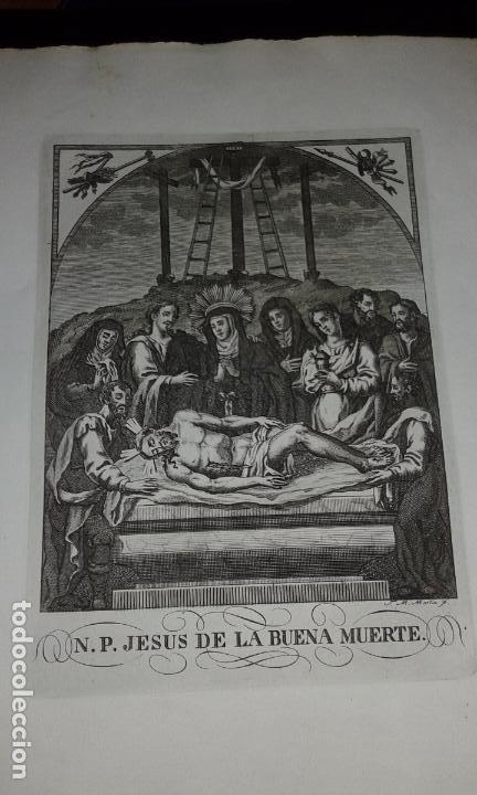 GRABADO NTRO PADRE JESUS DE LA BUENA MUERTE - JOSE MARIA MARTIN - GRABADOR SEVILLANO SIGLO XIX (Arte - Arte Religioso - Grabados)