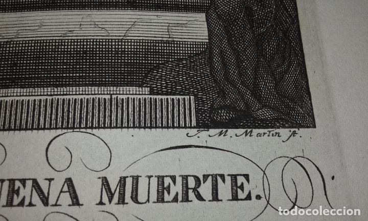 Arte: GRABADO NTRO PADRE JESUS DE LA BUENA MUERTE - JOSE MARIA MARTIN - GRABADOR SEVILLANO SIGLO XIX - Foto 4 - 83851604