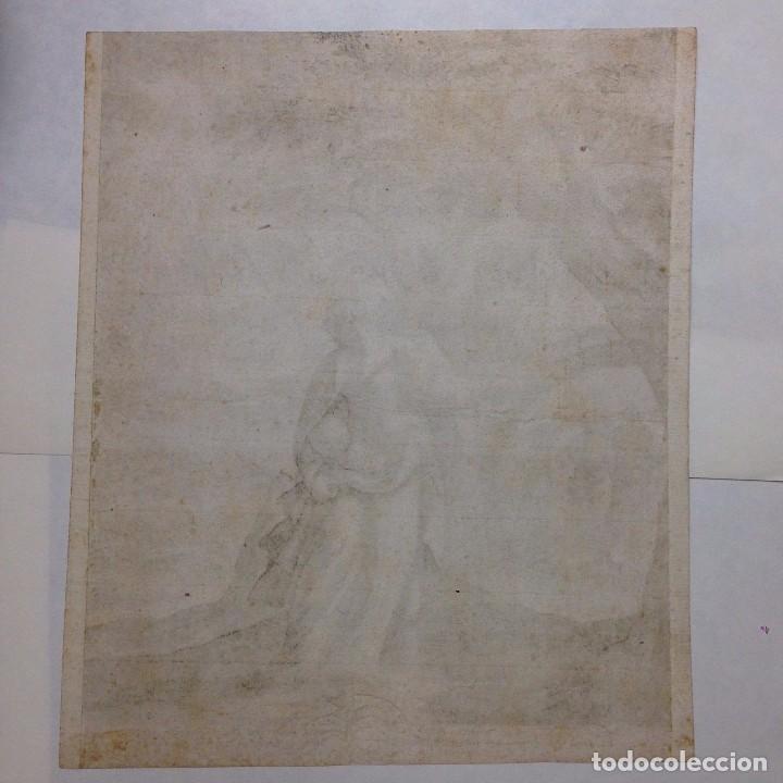Arte: Grabado religioso antiguo de RAPHAEL SADLER 1530-1632 saedler cholericus nº6 - Foto 3 - 83916900