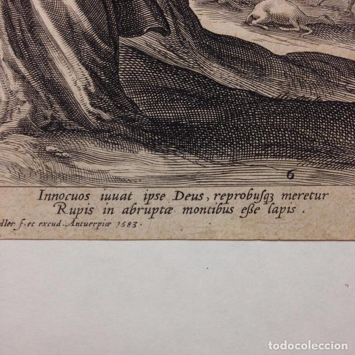 Arte: Grabado religioso antiguo de RAPHAEL SADLER 1530-1632 saedler cholericus nº6 - Foto 4 - 83916900