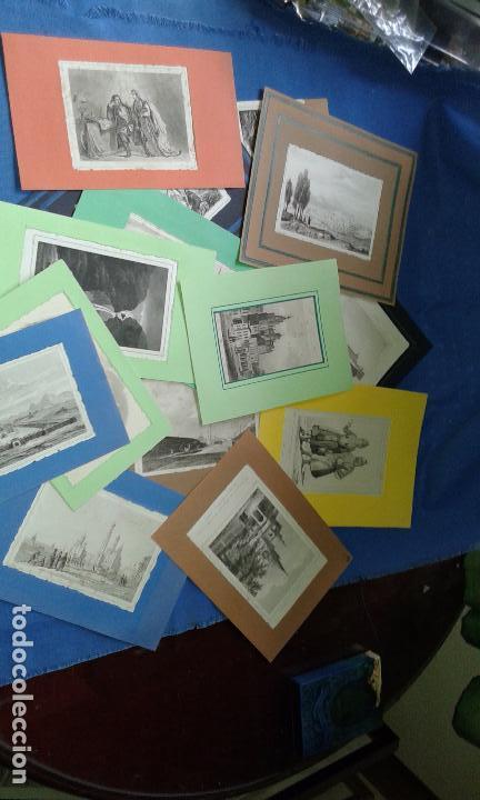 LOTE CON 14 GRABADOS ANTIGUOS LA MALLORIA DE LEMAITRE SIGLO XIX - VER FOTOS DE TODOS (Arte - Arte Religioso - Grabados)