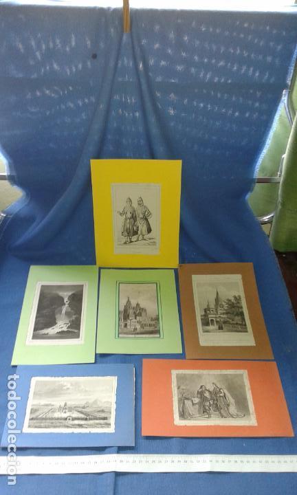 Arte: LOTE CON 14 GRABADOS ANTIGUOS LA MALLORIA DE LEMAITRE SIGLO XIX - VER FOTOS DE TODOS - Foto 3 - 84106004