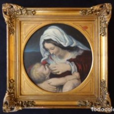 Arte: VIRGEN DE LA LECHE. OBRA ORIGINAL Y FIRMADA POR M. MORA YUSTE (CHIVA 1932). ÓLEO SOBRE TÁBLEX.. Lote 84381596