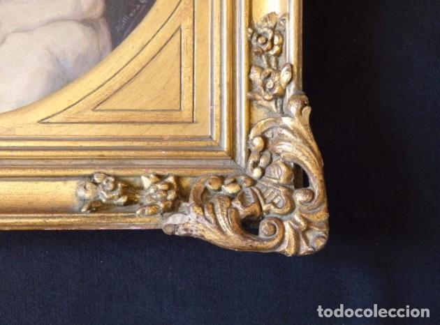 Arte: Virgen de la Leche. Obra original y firmada por M. Mora Yuste (Chiva 1932). Óleo sobre táblex. - Foto 4 - 84381596