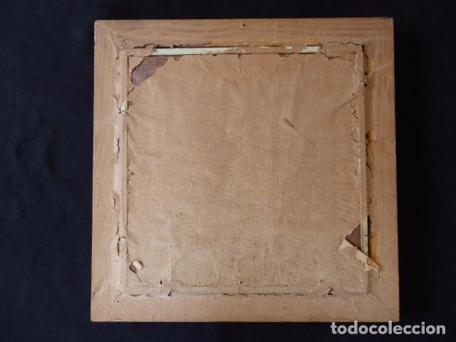 Arte: Virgen de la Leche. Obra original y firmada por M. Mora Yuste (Chiva 1932). Óleo sobre táblex. - Foto 5 - 84381596